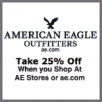 Save 25% at American Eagle with Free Shipping