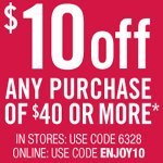 Bath and Body Works – $10 Off Coupon