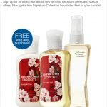 FREE Travel Size Bath and Body Works