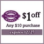 Boston Market $1 off Coupon