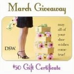 $50 DSW Gift Certificate Giveaway