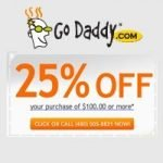GoDaddy 25% off Coupon