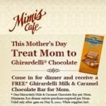 Get Free Chocolate at Mimi's Cafe on Mother's Day