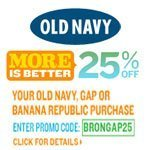 25% Off Old Navy
