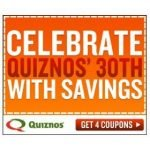 Buy One Get One Free Sub at Quiznos