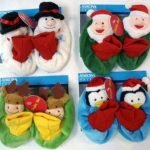 Walgreen's Holiday Baby Rattle Slippers