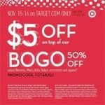 Target $5 Coupon and 50% off Sale