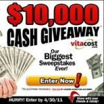 $10,000 Cash Giveaway – Vitacost